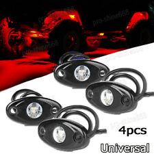 4x Red Offroad Truck Car ATV SUV Underbody Glow Light Lamp Tail Light Fit Buick
