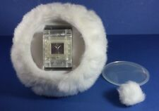 RETRO SWATCH XMAS SPECIAL 2002 SNOWQUEEN WRIST WATCH & FURRY SNOWBALL CASE