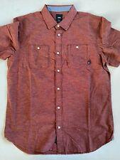Vans New Hemp Classic Fit Short Sleeve Button Down Shirt Men's Medium