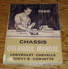 1966 Chevrolet Chassis Overhaul Manual 66 Chevy II Nova Corvette Chevelle