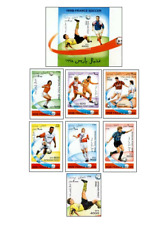 AFG96072 Football France 97 6 + block + stamp from the block
