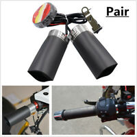 12V Motorcycle Quick Heated Hand Grip Pads Handlebar Warm W/ Adhesive Tap Black
