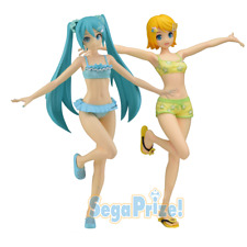 Hatsune Miku & Kagamine Rin Project Diva SEGA Resort 2 Set SPM Figure US SELLER