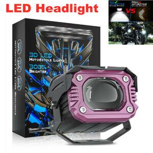 20W 12V-80V 12000LM Motorcycle LED Headlight Fog Light Lamp High and Low Beam