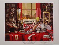 Ohio State 2014 National Champions Buckeye Traditions print signed Greg Gamble