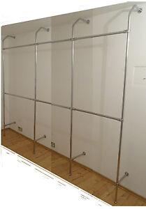 Wandregal zur Wandmontage für z.B. Ladeneinrichtung Modell 111 chrom