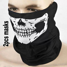2pcs Skull face mask bandana for men and women