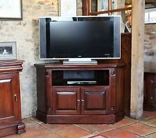 La Roque Solid Mahogany Furniture Corner Television Cabinet Lounge IMR09B