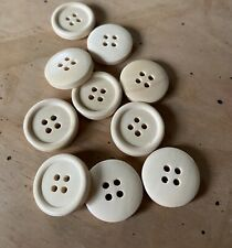 10 x 20mm Natural Wooden Buttons - Australian Supplier