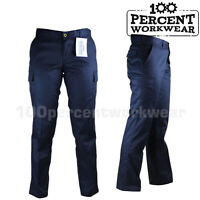 Ladies Womens UK Pro Trade Work Trousers Cargo Pockets Combat Pants Black Navy