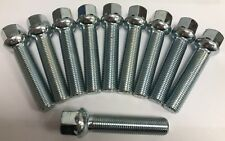 ALLOY WHEEL BOLTS M14X1.5 X 10 RADIUS BIMECC 50mm THREAD FOR AUDI Q2 Q3 Q5 Q7