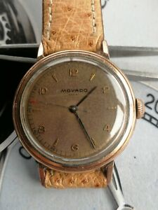 Vintage movado sport mens watch. Brown dial. Gold capped. Manual wind No reserve