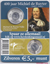"NEDERLAND 5 EURO  2007: ""HET MICHIEL DE RUYTER VIJFJE"" IN COINCARD"