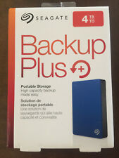 Seagate Backup Plus Slim 4TB External USB 3.0/2.0 Portable Hard Drive Black