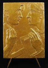 """Médaille Syndicat emplyés """"au Précurseur"""" Belgique à Julien Papart 1938 Medal"""
