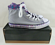 Converse Chuck Taylor All Star Back Zip Sneaker Junior Size 6 Gray & Purple