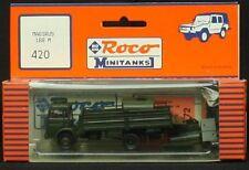 Roco H0 Minitanks 420 Magirus 168 M11 4x2 Flat w/ 2 Fuel Tanks NIP