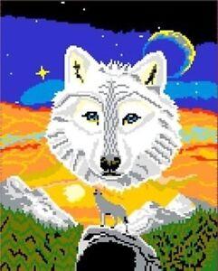 Mini Stecksystem Wolf mit Nachleuchtsteinen ca. 9.500 Teile mit XXL-Steckvorlage