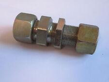30mm M42 x 2 - 24° Flareless Bulkhead Union Hydraulic Compression Fitting #9A158