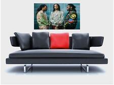 """Migos senza confini Mosaico Piastrelle Muro Poster 35"""" x 23"""" Hip Hop Trappola"""