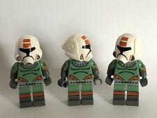 3 LEGO STAR WARS vecchia Repubblica PILOTA-personalizzati utilizzando solo le parti Lego