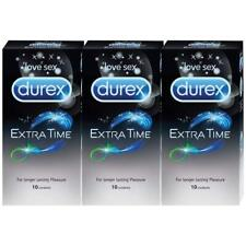 Durex Condoms (EXTRA TIME) - 10 Count x 3 pack. Free shipping world