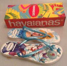 HAVAIANAS SL PRINCESS FLIP FLOPS- BLUE - BRANDS NEW - SIZE 33/34 - SIZE UK 1-2