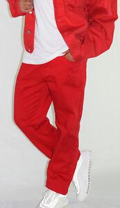 Mens RED Colour Branded Georgio Peviani G Denim True Star Comfort Fit Jeans