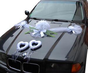 1x Hochzeit Dekoration Brautauto Autoschmuck Hochzeitsauto Autogirlande G8 Weiß