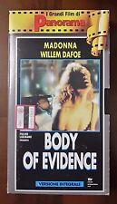 CS6> Body of Evidence - Film VHS anno 1993