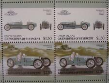 1934 BUGATTI TYPE 59 Grand Prix Car 50-Stamp Sheet Auto 100 Leaders of the World