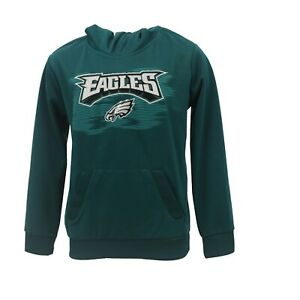 Philadelphia Eagles Official NFL Apparel Kids Youth Size Hooded Sweatshirt New