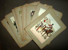 LES GARNISONS D'ALSACE AU 19e SIECLE Lithographies de costumes militaires 1911