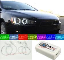 WiFi RGB For Mitsubishi Lancer 08-15 Halogen headlight LED Angel Eyes Halo Rings