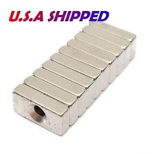 10pcs Strong Block Countersink Magnet 20x10x5mm Hole 4mm Rare Earth Neodymium