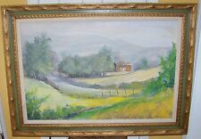 1969 WARD PALMER MANN OIL MASONITE PAINTING TURK HILL ROCHESTER FAIRPORT NY