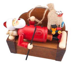 Sleeping Santa Incense Burner Smokerman Figure - Authentic German Räuchermann