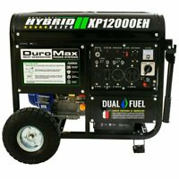 DuroMax 12,000W 18HP Portable Hybrid Dual Fuel Gas Generator with Electric Start