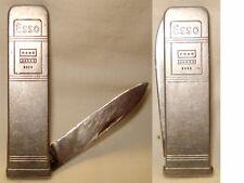 Ancien Couteau, knife, figuratif, Publicitaire Pompe Esso N°2 art populaire