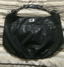 Zara Women's Medium Black Faux Leather Shoulder Bag
