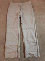 Beige Linen Casual Trousers, size 12R