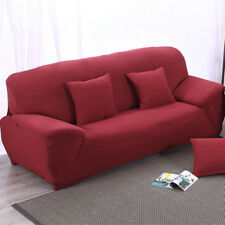 Spandex Textured Couch Stretch Sofa Cover Armchair Slipcover 2-Seat Burgundy