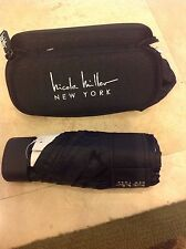 NICOLE MILLER AUTOMATIC UMBRELLA & COVER BLACK WITH CASE OPENS TO 42 inches NWT