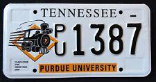 "TENNESSEE "" PERDUE UNIVERSITY TRAIN "" TN Vintage Classc iSpecialty License Plate"