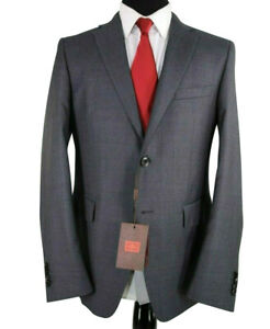ETRO NWT Suit Size 46R In Gray with Blue Dots