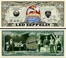 LED ZEPPELIN - BILLET 1 MILLION DOLLAR US ! ROBERT PLANT JIMMY PAGE John Bonham