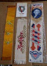 Old Assorted Needlepoint Ribbons George Washington Bicentennial Mother V Symbol