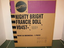 Barbie Exclusive Nighty Bright Francie Doll GOLD LABEL with Shipper VO457