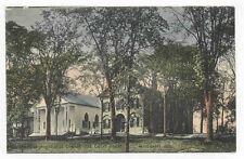 1909 WISCASSET ME COURT HOUSE & CHURCH POSTCARD PC1349