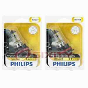 2 pc Philips High Low Beam Headlight Bulbs for Ford Bronco Bronco II Cougar es